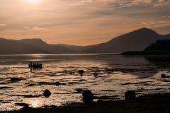 Loch Linnhe bij nacht Royalty-vrije Stock Foto