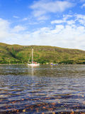Loch Linnhe. Sailing boats on Loch Linnhe, Scotland stock images