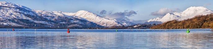 Loch Lomond全景 库存图片