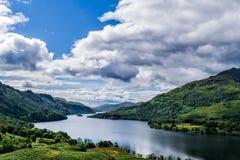 Loch Lomond全景 免版税库存图片
