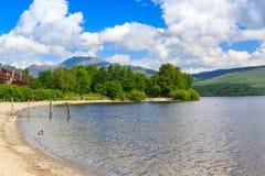 Loch Lomond Шотландия Стоковое Изображение