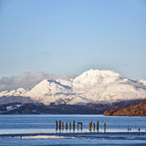 Loch lomond 01. A view of the majestic and impressive ben lomond from across loch lomond near the scottish town of balloch Royalty Free Stock Images