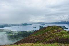 Loch Lomond in cloudy ambiance Stock Photos