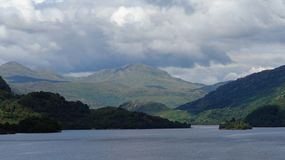 Loch Lomond with dramatic sky Royalty Free Stock Photography