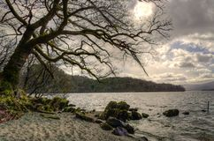 Loch Lomond en Ecosse Photo libre de droits