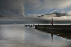 Loch Lomond enigmático Imagen de archivo libre de regalías