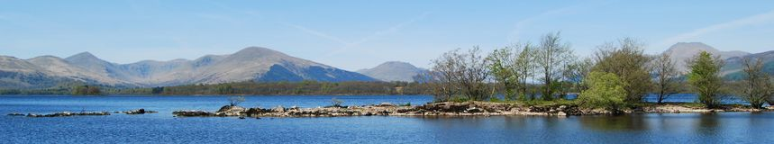 Panorama at Loch Lomond royalty free stock image