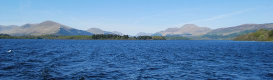 Panorama at Loch Lomond stock photography