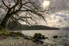 Loch Lomond i Skottland Royaltyfri Foto