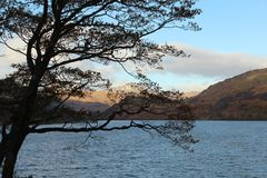 Loch Lomond jeziora quietspace Fotografia Stock
