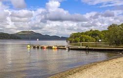 Loch Lomond, Luss, Schotland Stock Foto