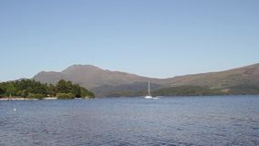 Loch Lomond in Luss, Scotland, UK, HD footage. Beautiful Loch Lomond in Luss, Scotland, UK, HD footage stock video