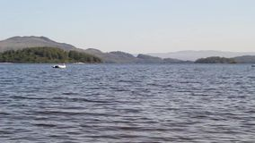 Loch Lomond in Luss, Scotland, UK, HD footage. Beautiful Loch Lomond in Luss, Scotland, UK, HD footage stock footage