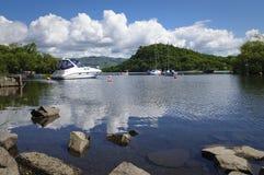 Loch Lomond marina Arkivbild