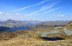 Loch Lomond and mountains from Ben Lomond Scotland stock photography