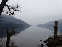 Loch Lomond. Murky day at Loch Lomond stock photo