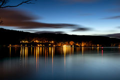 Loch lomond at night Royalty Free Stock Photos