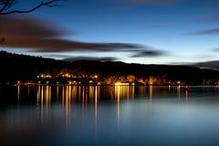 Loch Lomond på natten Royaltyfria Foton