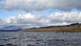 Loch Lomond Panning Time Lapse stock video footage