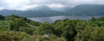Loch Lomond panorama Stock Photo