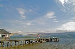 Loch lomond and the pier Royalty Free Stock Images