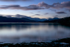 Loch Lomond przy nocą Fotografia Royalty Free