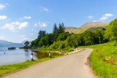 Loch Lomond przy rowardennan, lato w Szkocja, UK Obrazy Stock