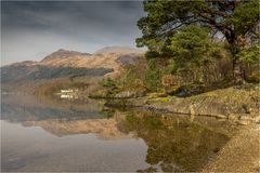 Loch Lomond-Schottland stockfotos