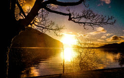 Loch Lomond Scotland. Sunrise over loch Lomond scotland Stock Photography