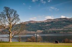 Loch Lomond scotland Arkivfoton