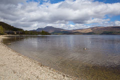 Loch Lomond Scozia Regno Unito nel parco nazionale di Trossachs Immagini Stock Libere da Diritti