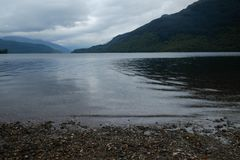 Loch Lomond shore. Lake shore in Scotland, Loch Lomond and the Trossachs National Park Royalty Free Stock Photos