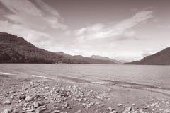 Loch Lomond; Skottland Arkivbild