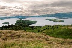 Loch Lomond. Skottland Fotografering för Bildbyråer