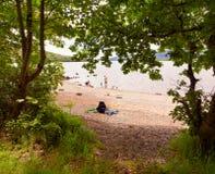 Loch Lomond Skottland, UK Arkivfoton