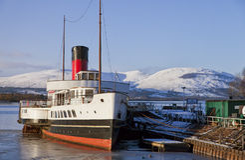 Loch Lomond skovelsteamer Royaltyfria Foton