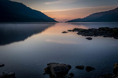 Loch Lomond soluppgång Arkivbilder