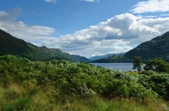 Loch Lomond in sunny ambiance Royalty Free Stock Images