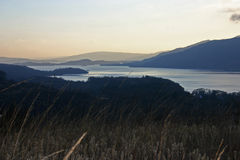 Loch Lomond. Taken from near the foot of Ben Lomond on a cold clear winters day Royalty Free Stock Photography