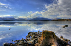 Loch Lomond trossachs 免版税库存图片