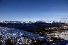 Loch Lomond Winter. Winter view across Loch Lomond, Scotland to the mountains beyond Stock Photo