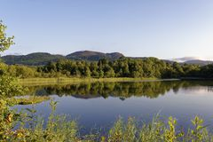 Loch of Lowes and Craig More royalty free stock photo