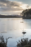 Loch Mallachie in the Cairngorms National Park. Icy Loch Mallachie in the Cairngorms National Park of Scotland Royalty Free Stock Image