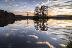 Loch Mallachie in the Cairngorms National Park. Loch Mallachie in the Cairngorms National Park of Scotland stock photo