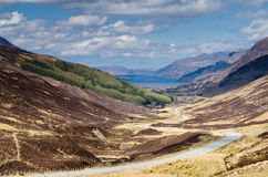 Loch Maree from Glen Docherty Royalty Free Stock Photos