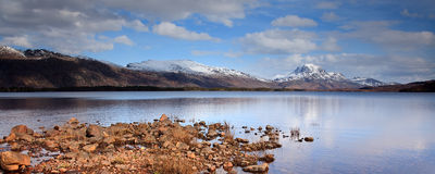 Loch Maree Landschaft Lizenzfreie Stockbilder