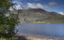 Loch maree and mountain landscape in the scottish highlands Stock Photography