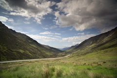 Loch maree and mountain landscape in the scottish highlands Royalty Free Stock Images