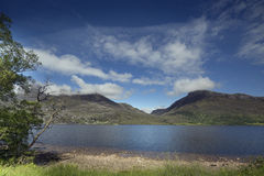 Loch maree and mountain landscape in the scottish highlands Royalty Free Stock Image