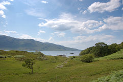 Loch Morar. A scenic view of the area around Loch Morar, Scotland Stock Photography